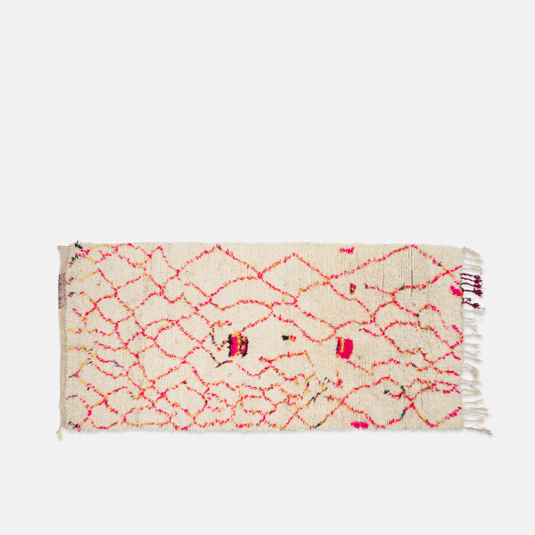 Vintage Azilal rug, pink