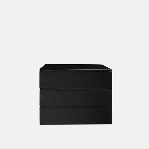 Tray box, sort