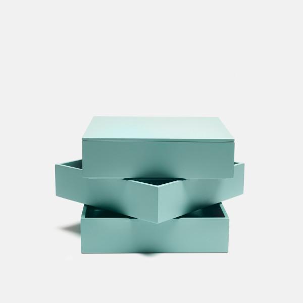 Tray box, aqua