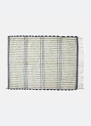 Berber tæppe, blå striber