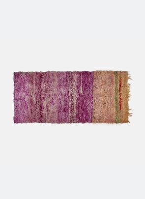 Azilal  tæppe, purple pink